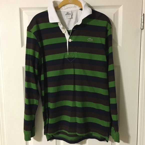 Shirt Long Sleeve Striped Lacoste Men's nN8wm0yvO